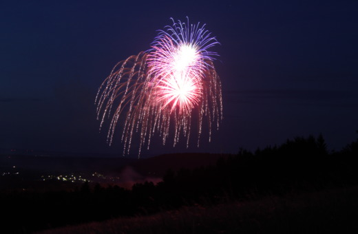Fireworks over Goslar