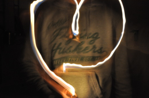 Lightpainting a heart