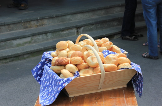 Breadbasket with german rolls