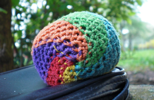 Colorful footbag