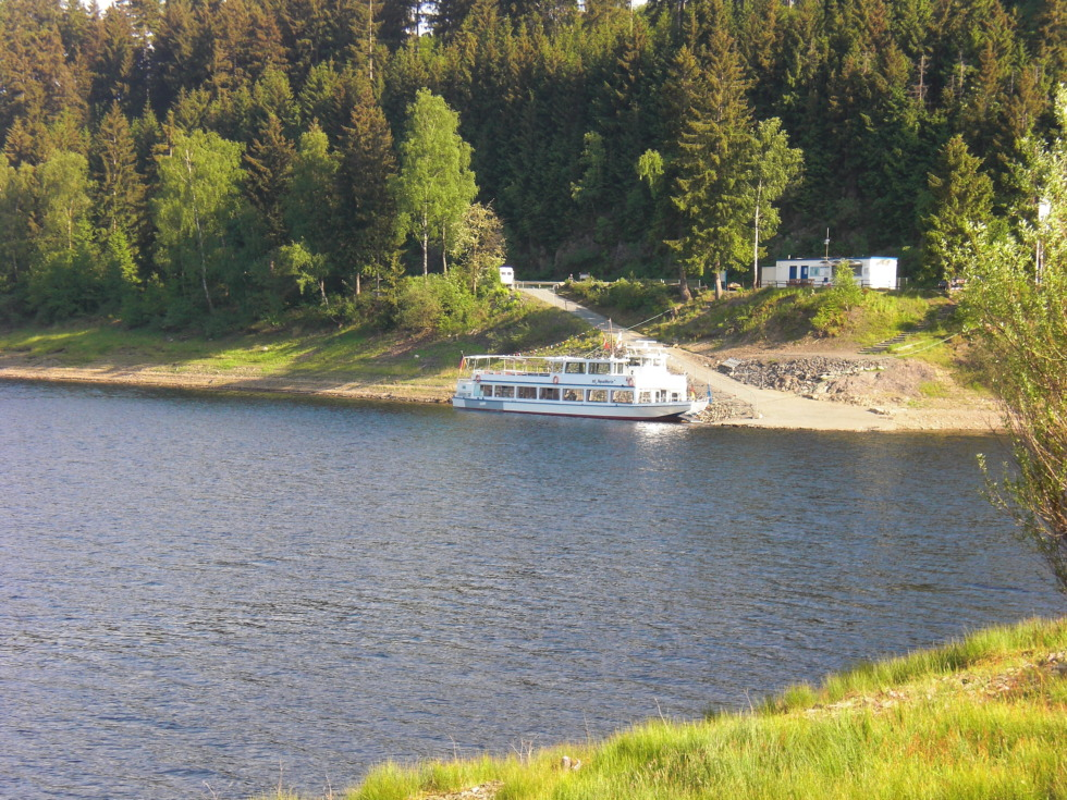 MS AquaMarin on Okerstausee reservoir