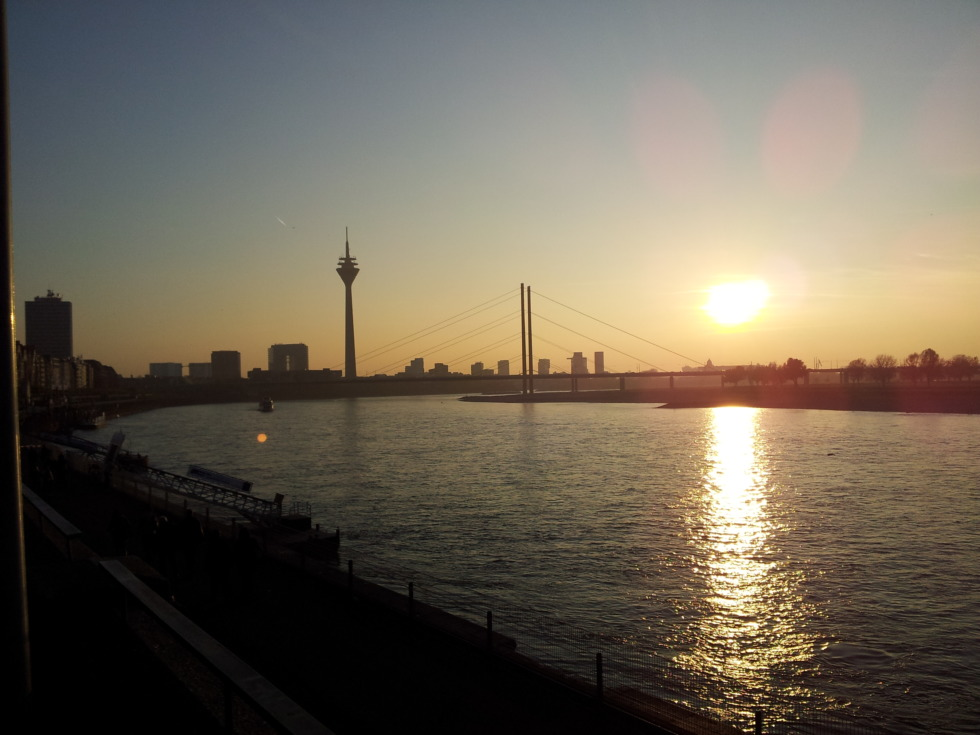 Skyline sunset of Düsseldorf