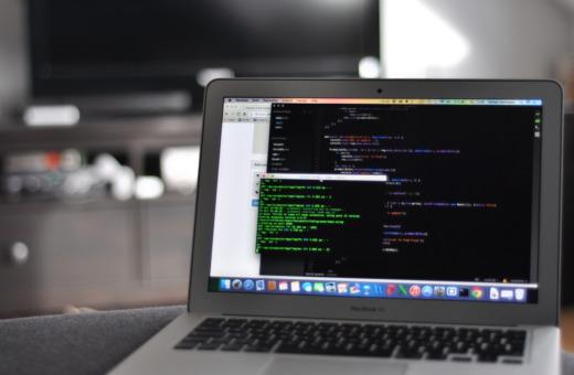 Code editor on MacBook Air