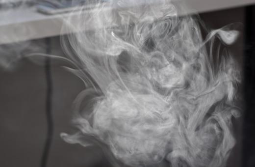 Electro cigarette's smoke
