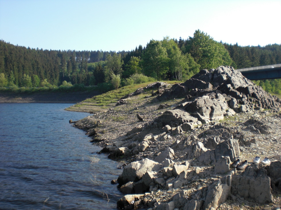 Rocks at Okertalsperre reservoir