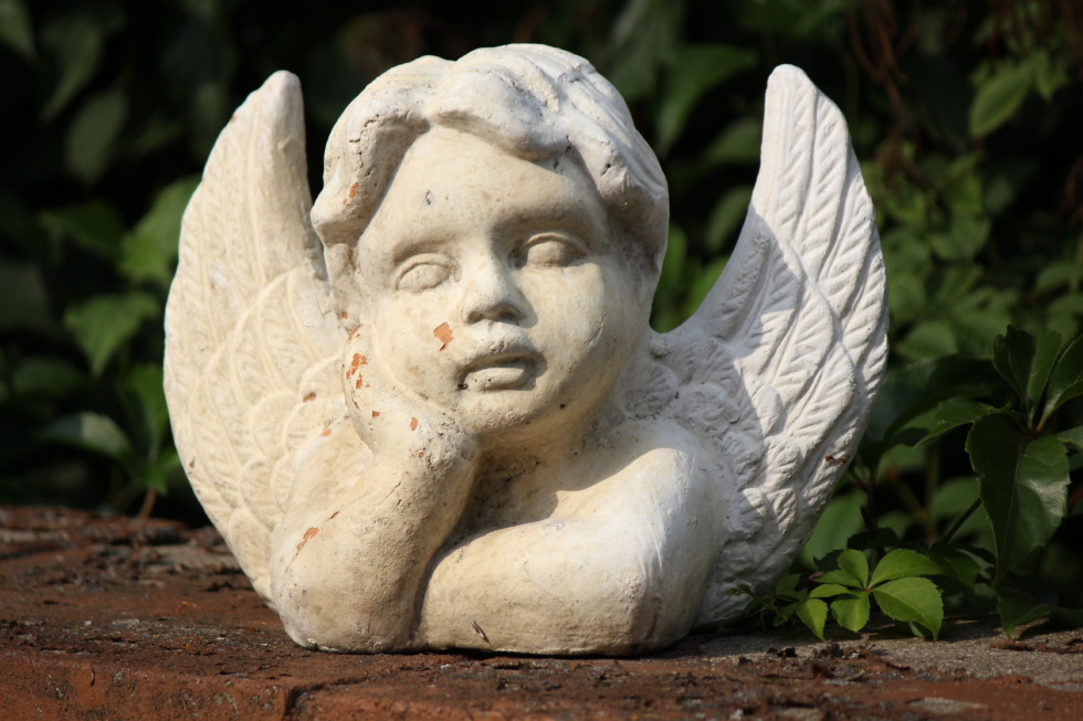 White angel figurine