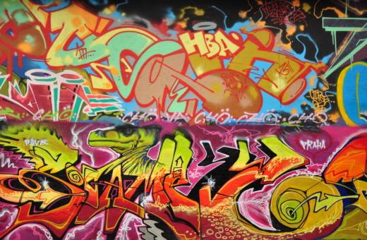 Streetart graffiti in Prague