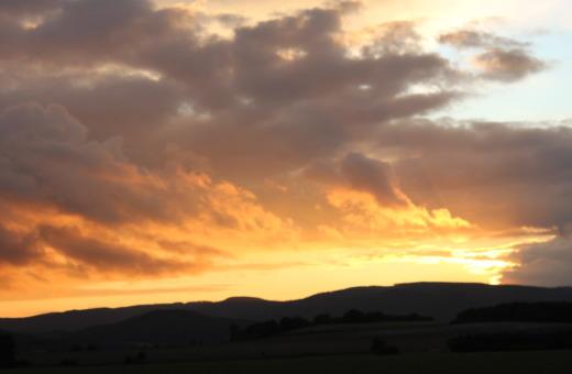 Sundown in the sky