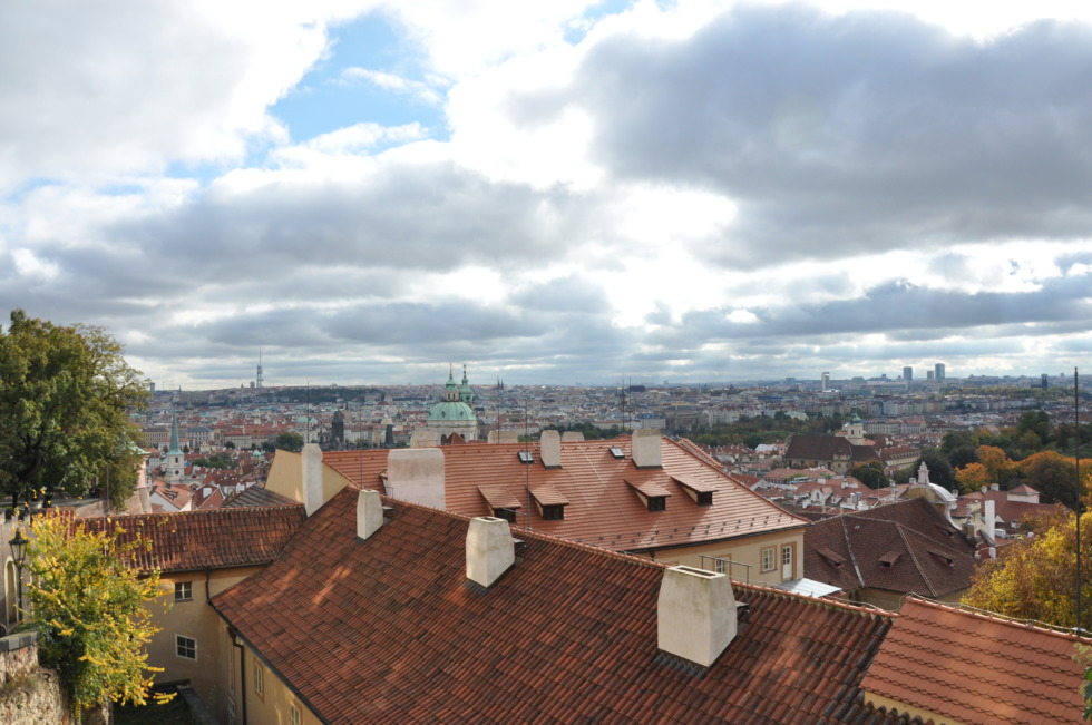 Above the roofs of Prague