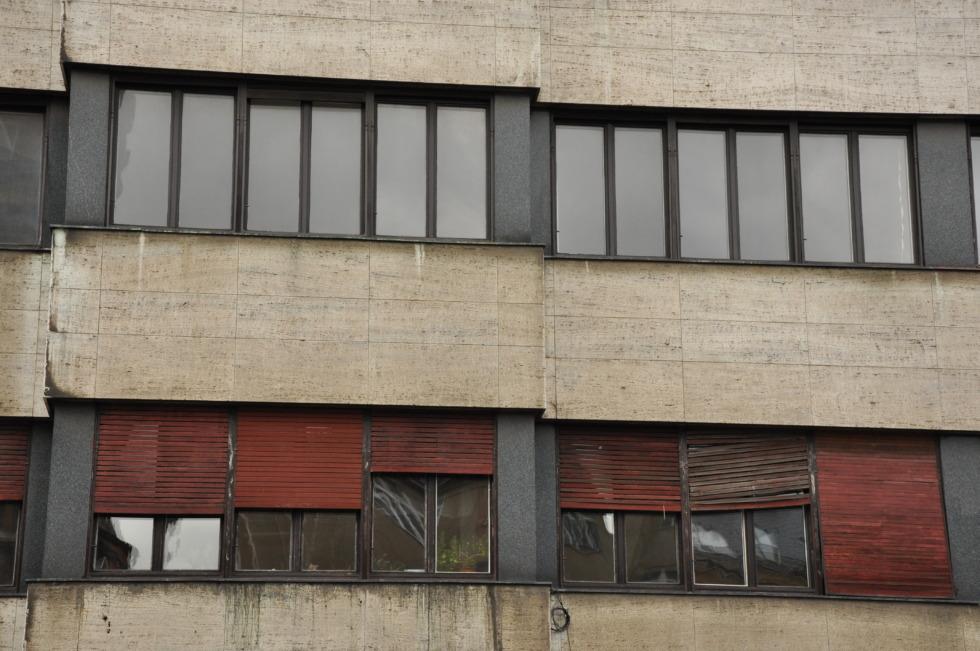Skewed building in Prague