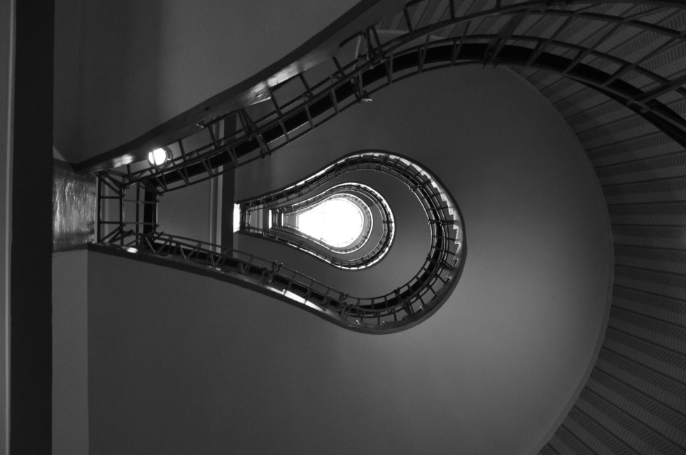 Looking upstairs