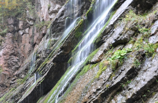 Waterfall in ravine at Wildbachklamm