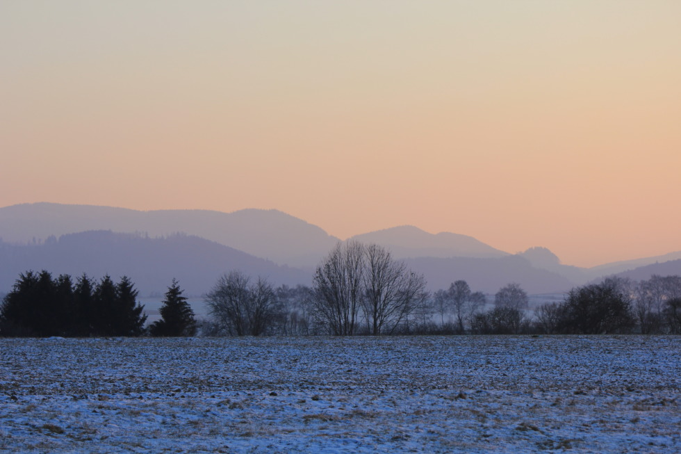 Wintry scene at fields near Goslar