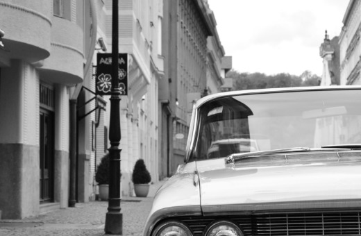 Old Cadillac in Prague's streets
