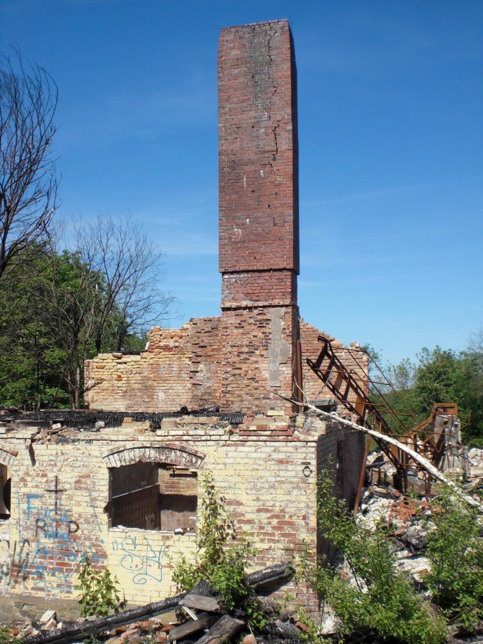 Burnt down house - Sanatorium Königsberg
