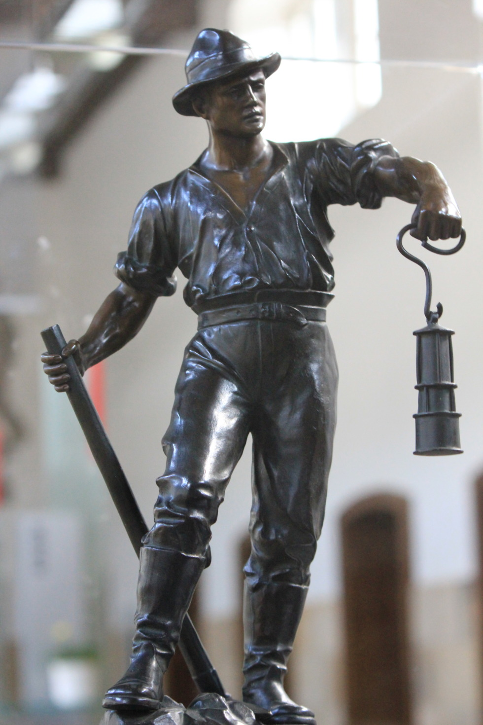 Bronze sculpture of a miner in Rammelsberg