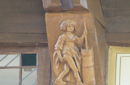 Truss carving in Goslar's old city centre