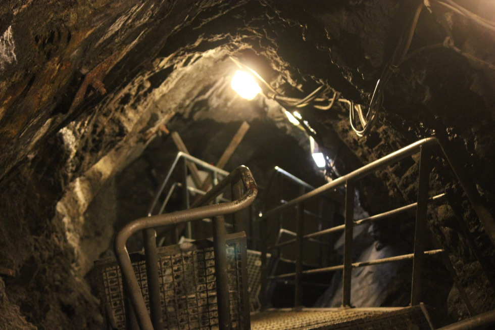 View downstairs in the Rammelsberg mine