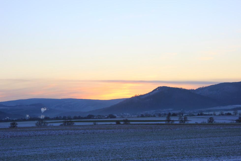 Winter landscape around Goslar