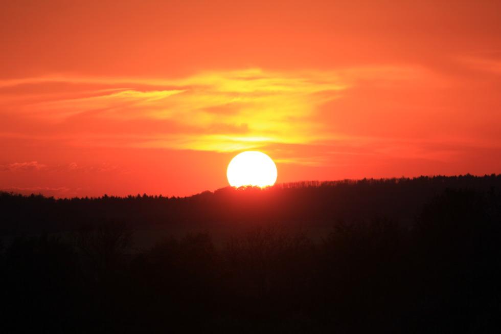 Burning sundown