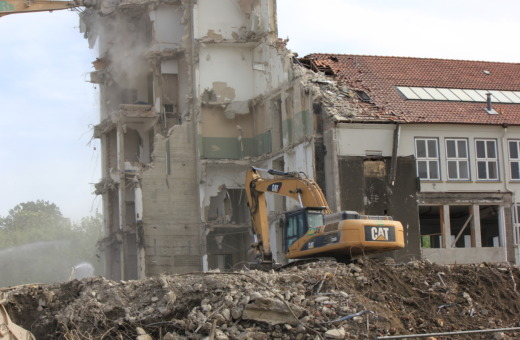 Deconstruction of Odermark building in Goslar