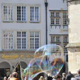 Giant soap bubble in the city of Münster
