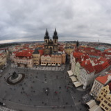 View onto Prague's market place