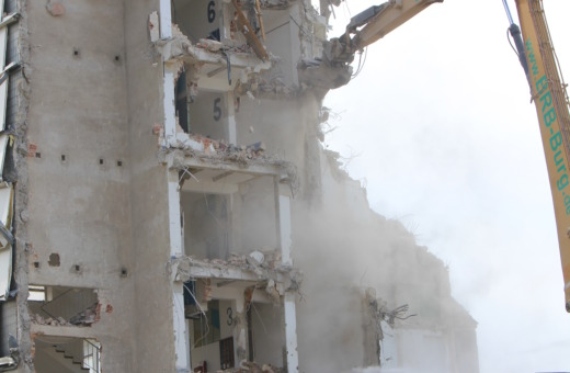 Destruction of a staircase
