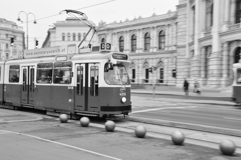 Metro train in Vienna
