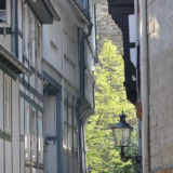 Small alleyway between half-timbered houses in Goslar