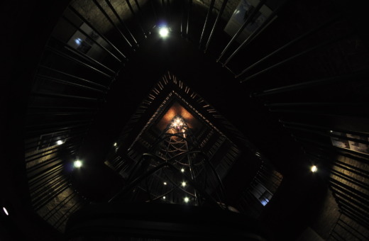 Spectacular elevator in Prague's old townhall