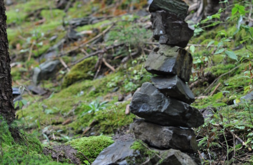Stack of stones in Harz forests
