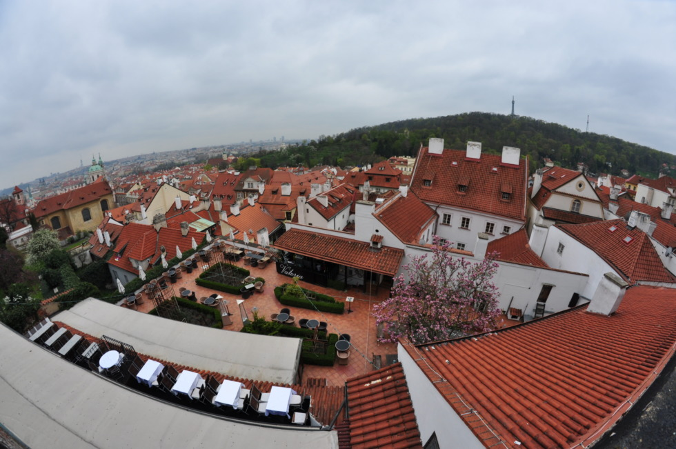 Terrace on top of Prague's roofs