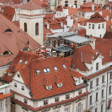 Roofgarden in Prague's old city centre