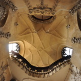 Ceiling of Kutna Hora's bone church