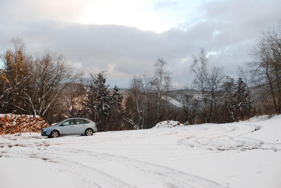 Snowy place on Steinberg, Goslar