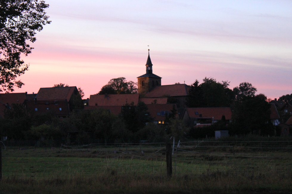 View on to bredelem in the evening