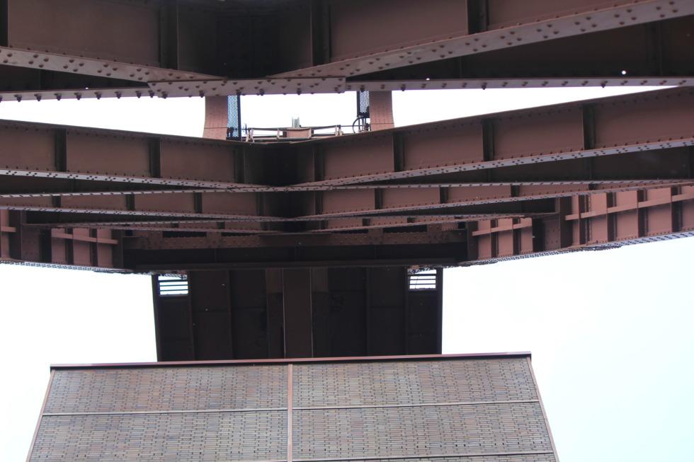 Heavy structural steelwork at Zeche Zollverein