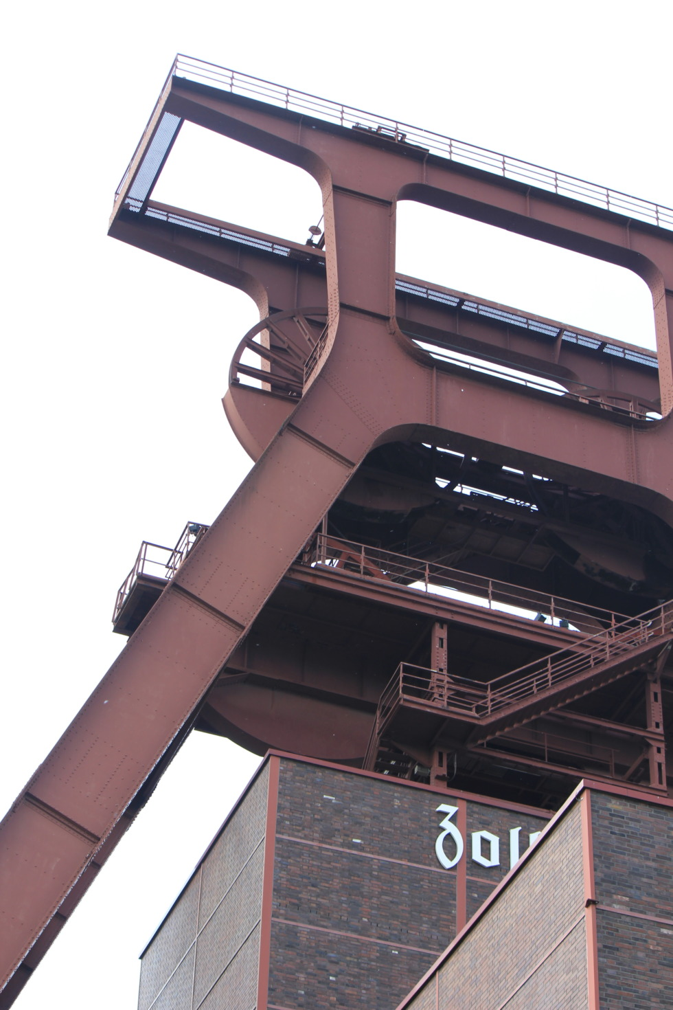 Huge headframe at Zeche Zollverein, Essen