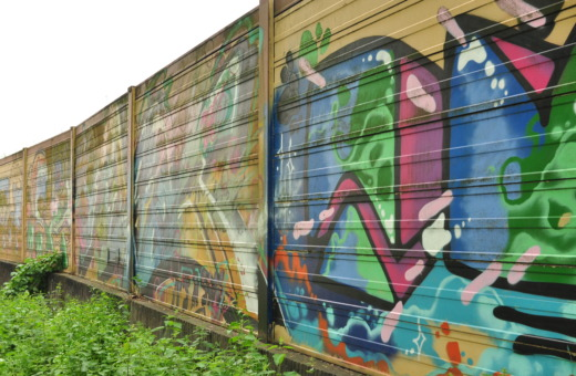 Graffiti wall near A40 in Essen