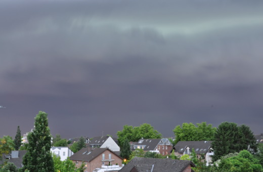 Thunderclouds over the village