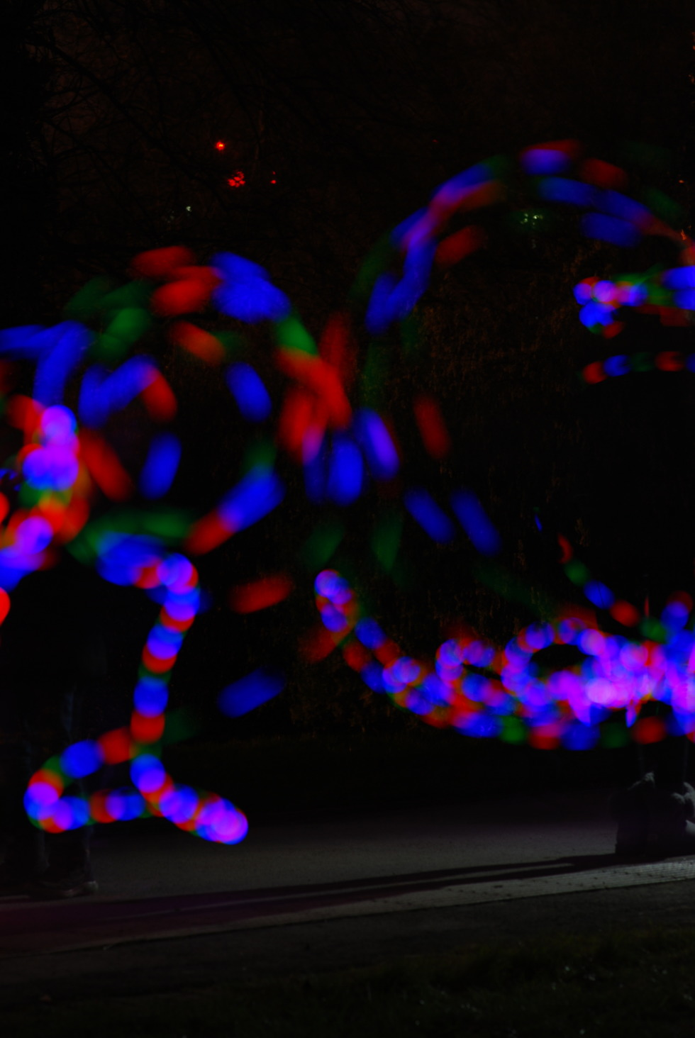 Abstract light painting with LED ball