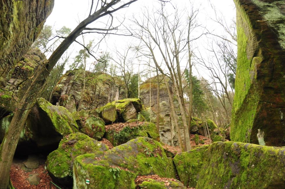 Green rocks in Bohemia paradise