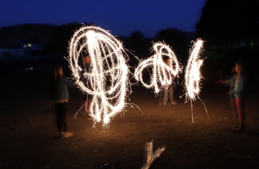 Lightpainting with sparklers