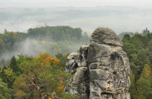 Single rock in bohemian paradise