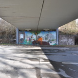 Graffiti below bridge in Essen