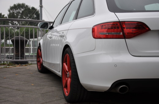 Audi A6 with red rims
