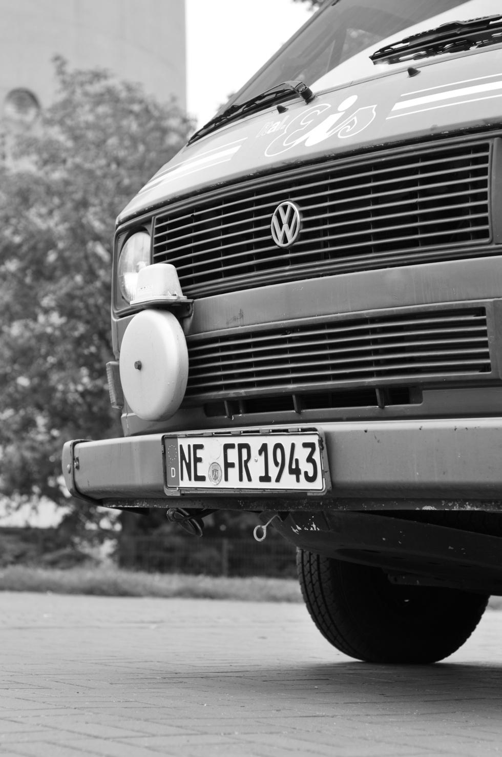 VW T3 bus ice cream cart