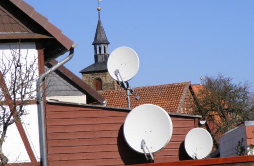 Satellite dish valley