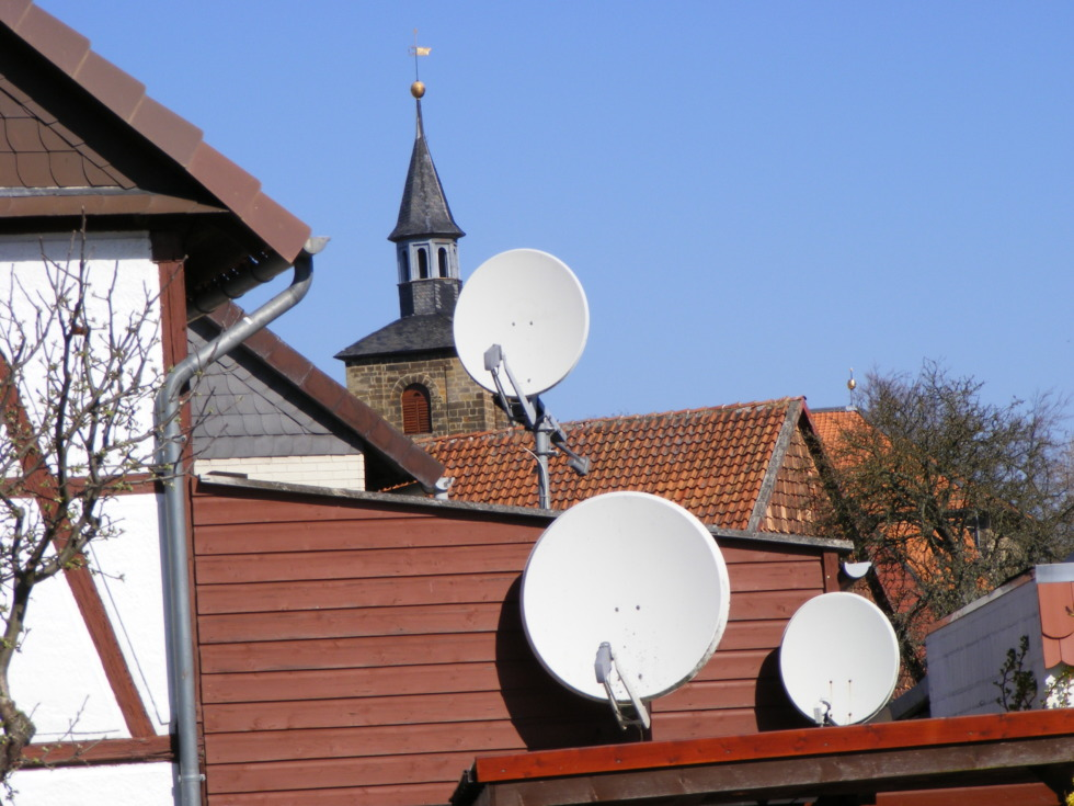 Satellite dish valley